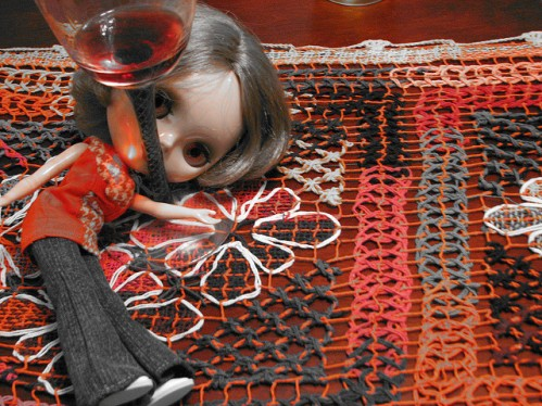 Doll with drink